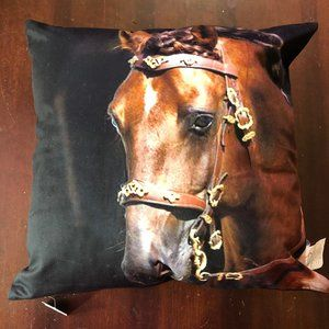 Horse Pillow. NEW, Removable Cover